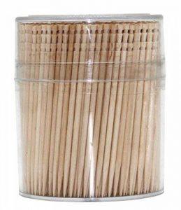 100% tout Naturel en bois rond cure-dents Bois cure-dents 6,6cm Longueur 1Lot de 500CT de la marque Antetok image 0 produit