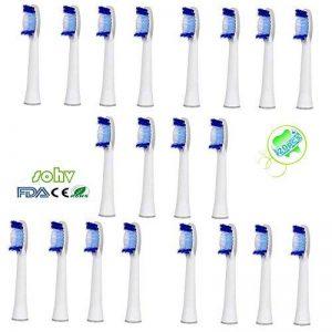 20 Pièces. (5x4) Sohv®Remplacement De Têtes Brossettes Pour La Braun Oral-B Pulsonic (SR32-4). Entièrement Compatible Avec Les Poignées électriques Suivants (Oral-B Pulsonic Slim, Oral-B Pulsonic, Oral-B Pulsonic SmartSeries) de la marque Sohv image 0 produit