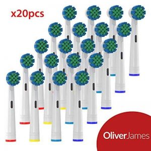 20 Têtes Brosse à Dent d'Oliver James compatible avec Oral B brosses à dents de la marque Oliver James image 0 produit