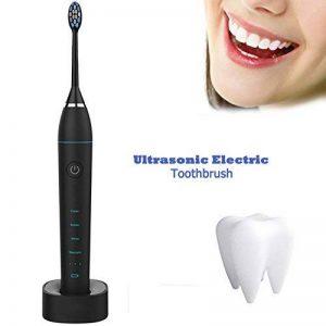 [2018 nouvelle version] Sonic brosse à dents électrique/Clean les dents à fond/Acoustic puissance/brosse à dents rechargeables avec 4 types de mode de nettoyage/classe IPX7 imperméable à l'eau-noir de la marque TZLong image 0 produit
