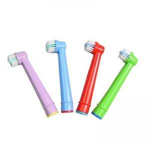 4 (1 x 4) Têtes de remplacement hofoo® Brosse à dents électrique pour enfant pour Oral-B eb-10 a hasard couleur de la marque hofoo image 0 produit