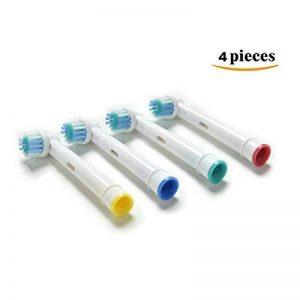 4 Pièces de rechange pour brosse à dents électriques pour pompes orales B / Braun Electric Modèle EB17-4 SB-17A, Travailler avec toutes les brosses à brosse orale Oral B de la marque HAPPY-DOLLE image 0 produit