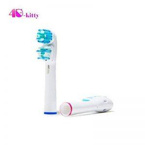 4G-Kitty® Lot de 8 (2 x 4) têtes de brosse à dents de remplacement pour Oral B Dual Clean (Sb-417 a) Brosse à dents brosses à dents électriques Entièrement compatibles avec les modèles de Braun Oral-B: TriZone, Advance Power, Professional Care, Triumph, image 0 produit