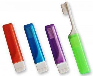 4x Brosse à dents de voyage Coupe V (Lot de 4 couleurs) de la marque Dental Aesthetics UK image 0 produit