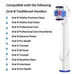 8 brosses de rechange pour Oral-B 3D White, EB18 Tête de brosse, têtes de brosse à dents, compatible de 4 brossettes de rechange pour brosse à dents électrique Oral B, professionnelle Soin du corps de qlebao de la marque QLEBAO image 3 produit