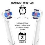 8 brosses de rechange pour Oral-B 3D White, EB18 Tête de brosse, têtes de brosse à dents, compatible de 4 brossettes de rechange pour brosse à dents électrique Oral B, professionnelle Soin du corps de qlebao de la marque QLEBAO image 4 produit