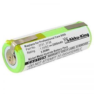 Akku-King Batterie pour Braun Oral-B Triumph 4000, 5000, 9000, 9500, 9900, Professional Care 8000, 8300, 8500, 9500 - remplace 3731, 3738 - Ni-MH 2500mAh 1.2V de la marque Akku-King image 0 produit