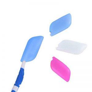 Amoyie Lot de 3 embouts de protection pour des brosses à dents classique et des têtes de brosse électriques, 100% sans BPA Porte- brosses à dents en silicone de la marque Amoyie image 0 produit