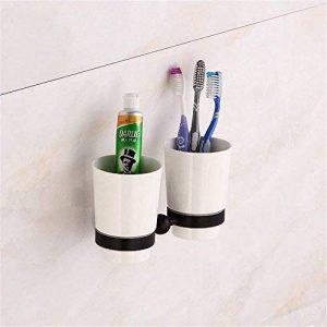 Bathroom Accessories FUNUAN Salle de Bain Murale rétro en Laiton Noir, Porte-gobelet Double Brosse à Dents de la marque Bathroom Accessories FUNUAN image 0 produit