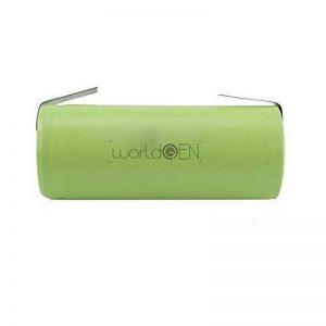 Batterie de Remplacement WorldGen 2000mAh 1.2V 42x17mm pour Brosse à Dents électrique Braun Oral B Type 3728 (D18.500, D19.500) Professional Care 7400, 7550, 7850, 8000, 8300, 8500, 8850, 8900 de la marque WorldGen image 0 produit
