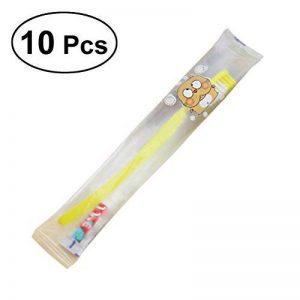 BESTOMZ Brosse à dents jetables avec dentifrice de voyage Lot de 10 (Couleurs Mélangées) de la marque BESTOMZ image 0 produit