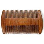 BFWood Peigne moustache de poche – Peigne en bois de santal avec étui en cuir de la marque image 1 produit