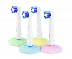 bHolder support pour brosses à dents pour Oral-B Têtes de brosse à dents électrique, hygiénique, efficace Ventouse, Lot de 4, fabriqué en Suède de la marque Devotia image 0 produit