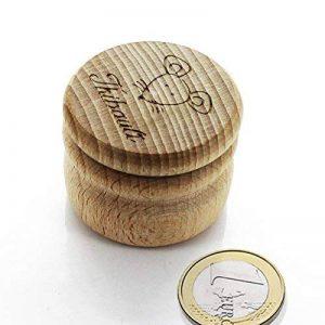 Boite à dents ronde en bois petite souris personnalisée avec un prénom de la marque Amikado image 0 produit