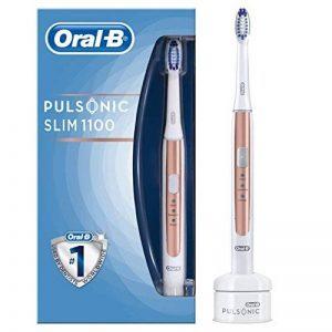 Braun Oral B 4210201198420Oral B Puls onic Slim 1100Silencieux Brosse à dents électriques, avec minuteur et aufste ckbü rste, rose gold, de la marque Oral-B image 0 produit