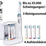 """Brosse à dents électrique sonique avec chargeur et stérilisateur UV """"SZB-352"""" de la marque Newgen Medicals image 1 produit"""