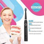 Brosse à dents électrique Fairywill FW507 CrystalBlack Rechargeable Sonique de voyage noir. de la marque Fairywill image 1 produit