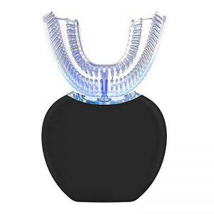 Brosse À Dents Électrique Mains Libres Rechargeant Un Instrument À Ultrasons En Silicone En Forme De U Pour Le Blanchiment Des Dents,Black de la marque LUXURYDREAM image 0 produit