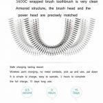 Brosse À Dents Électrique Rechargeable, 1 Manche Blanc/Blu,2 Brossette de la marque HSHU image 3 produit