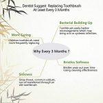 Brosse à dents Progoco en bambou écologique et poils doux en charbon actif, couleur marron de la marque Sunlar image 3 produit