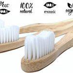 Brosses à Dents en Bambou - Biodégradable à 100% en bois Naturel Végétalien avec Soies Blanches Douces Durables et sans bisphénol A (BPA) Pour Adultes qui ont des Gencives Sensibles (Paquet de 3) ⭐ Prime ⭐ de la marque The Green Earth Project image 1 produit