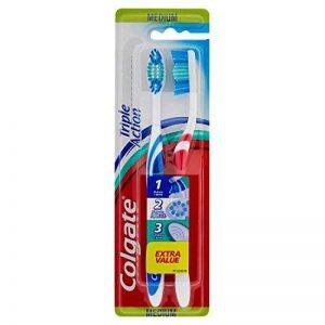 Colgate - Brosse à Dents Triple Action - Medium - couleur aléatoire - Lot de 3 de la marque Colgate image 0 produit