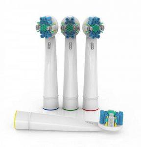 Compatibles Oral B ShopINess® - Lot de 8 têtes de remplacement pour brosse à dents électrique Oral B Floss Action de la marque ShopINess image 0 produit