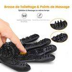 【Dernière Version】 OMORC Gants Poils Animaux Gant de Toilettage Chat Brosse de Massage Chien Gant de Nettoyage pour Animaux Cheval 1 Paire Noir de la marque OMORC image 3 produit