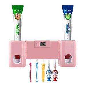 Distributeur automatique de dentifrice avec support pour 5 brosses à dents pour adultes et enfants (Rose) de la marque SUNNZO image 0 produit
