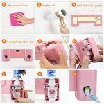 Distributeur automatique de dentifrice avec support pour 5 brosses à dents pour adultes et enfants (Rose) de la marque SUNNZO image 2 produit