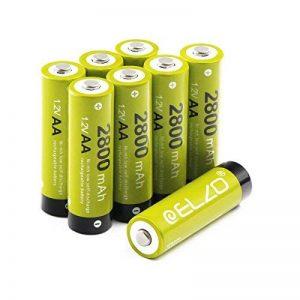 ELZO AA Piles Rechargeable 1,2V/2800mAh Grande CapacitéNi-MH Batterie avec Boîte, Lot de 8 de la marque ELZO image 0 produit
