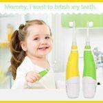 ENFANTS bébé Brosse à dents, Allomn Oral Care Baby Sonic Brosse à dents électrique avec 2 têtes de brosse à poils doux lumières LED de la marque ALLOMN image 1 produit