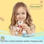 Enfants Brosse À Dents Électrique, 360 ° Ultra Sonic Brosse À Dents Sans Fil Charge Inductive De Type U Avec 4 Modes Optionnels,Blue de la marque HSHU image 1 produit