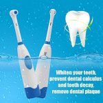 Ensemble de brosse à dents électrique rotative sonique à ultrasons à piles portable de la marque Peepheaven image 4 produit