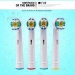 FLM 3D White/PRO Bright EB18-4 - Têtes de Remplacement pour Brosses à Dents Electriques Compatible Avec Braun Oral B, Pack de 16 Brossettes de la marque fuluomei image 4 produit