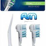 FLM Dual Clean EB417-4 - Têtes de Remplacement pour Brosses à Dents Electriques Compatible Avec Braun Oral B, Pack de 4 Brossettes de la marque fuluomei image 2 produit