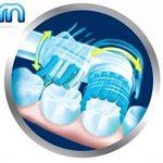 FLM Dual Clean EB417-4 - Têtes de Remplacement pour Brosses à Dents Electriques Compatible Avec Braun Oral B, Pack de 4 Brossettes de la marque fuluomei image 3 produit