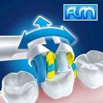 FLM FlossAction EB25A - Têtes de Remplacement pour Brosses à Dents Electriques Compatible Avec Braun Oral B, Pack de 4 Brossettes de la marque fuluomei image 1 produit