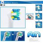 FLM FlossAction EB25A - Têtes de Remplacement pour Brosses à Dents Electriques Compatible Avec Braun Oral B, Pack de 4 Brossettes de la marque fuluomei image 2 produit