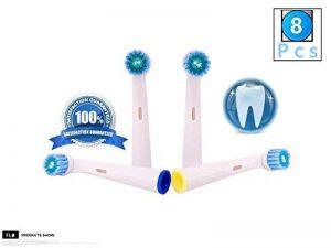 FLM Precision Clean EB17C - Têtes de Remplacement pour Brosses à Dents Electriques Compatible Avec Braun Oral B, Pack de 8 Brossettes de la marque fuluomei image 0 produit