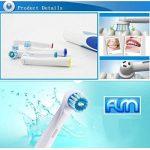 FLM Precision Clean EB17C - Têtes de Remplacement pour Brosses à Dents Electriques Compatible Avec Braun Oral B, Pack de 8 Brossettes de la marque fuluomei image 1 produit
