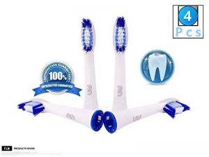 FLM Pulsonic SR32-4 - Têtes de Remplacement pour Brosses à Dents Electriques Compatible Avec Braun Oral B, Pack de 4 Brossettes de la marque fuluomei image 0 produit