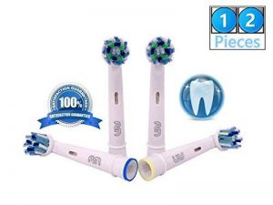 FLM Vitality White and Clean EB50A - Têtes de Remplacement pour Brosses à Dents Electriques Compatible Avec Braun Oral B, Pack de 12 Brossettes de la marque fuluomei image 0 produit