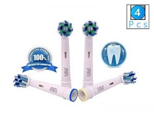 FLM Vitality White and Clean EB50A - Têtes de Remplacement pour Brosses à Dents Electriques Compatible Avec Braun Oral B, Pack de 4 Brossettes de la marque fuluomei image 0 produit