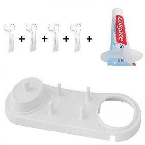 FOURCHEN Support de Tête de Brosse à Dents Electrique Porte-brosses à Dents Oral-B+ 4 pcs Têtes de brosse à dents Coque pour Oral-B+ Outil pour pâte dentifrice de la marque FOURCHEN image 0 produit