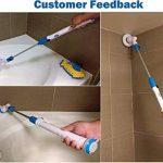 Foyer électrique nettoyage carrelage brosse de nettoyage avec manche long,Dulcii nettoyeur de toilettes sans fil ,Brosse Electrique avec 3 têtes de brosse de la marque image 1 produit