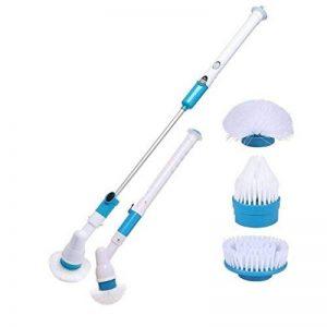 Foyer électrique nettoyage carrelage brosse de nettoyage avec manche long,Dulcii nettoyeur de toilettes sans fil ,Brosse Electrique avec 3 têtes de brosse de la marque image 0 produit