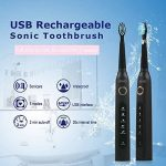 HANER Brosses à Dents électriques Rechargeables à ultrasons Sonic Wave de la marque HANER image 1 produit