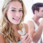 Hatteker Brosse à Dents Propre Électrique Entièrement Automatique Ultrasonic Sonic Toothbrushes U-Shape Rechargeable Dents blanchissant les Adultes 360 Degrés Orale Blanchir(Blanc) de la marque Hatteker image 1 produit