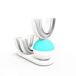 Healifty Brosse à dents électrique automatique ultrasonique U-Shape Rechargeable Dents blanchissant les adultes 360 degrés propre (Blanc) de la marque Healifty image 0 produit